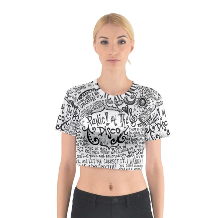 Panic! At The Disco Lyric Quotes Cotton Crop Top
