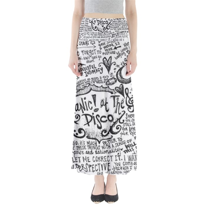 Panic! At The Disco Lyric Quotes Maxi Skirts