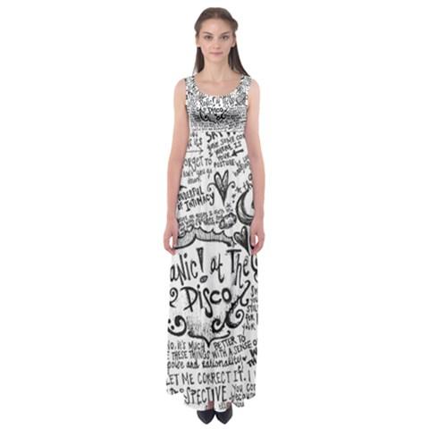 Panic! At The Disco Lyric Quotes Empire Waist Maxi Dress