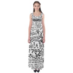 Panic! At The Disco Lyric Quotes Empire Waist Maxi Dress