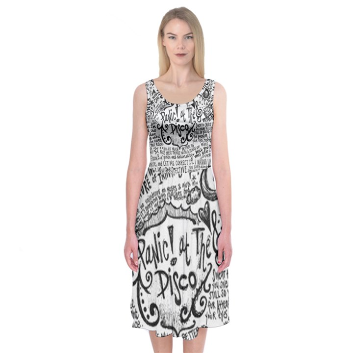 Panic! At The Disco Lyric Quotes Midi Sleeveless Dress