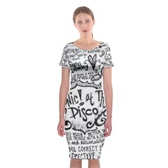 Panic! At The Disco Lyric Quotes Classic Short Sleeve Midi Dress