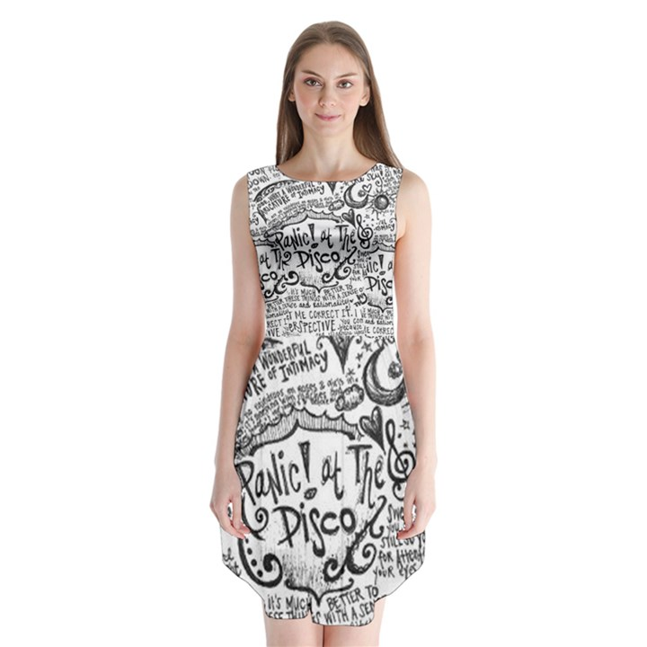 Panic! At The Disco Lyric Quotes Sleeveless Chiffon Dress
