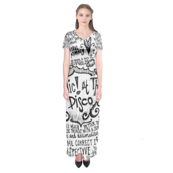 Panic! At The Disco Lyric Quotes Short Sleeve Maxi Dress