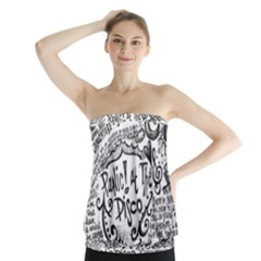 Panic! At The Disco Lyric Quotes Strapless Top