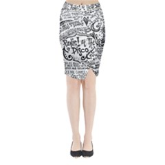 Panic! At The Disco Lyric Quotes Midi Wrap Pencil Skirt