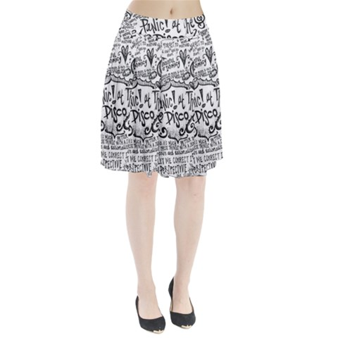 Panic! At The Disco Lyric Quotes Pleated Skirt