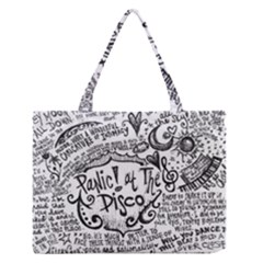 Panic! At The Disco Lyric Quotes Medium Zipper Tote Bag