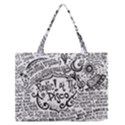 Panic! At The Disco Lyric Quotes Medium Zipper Tote Bag View1