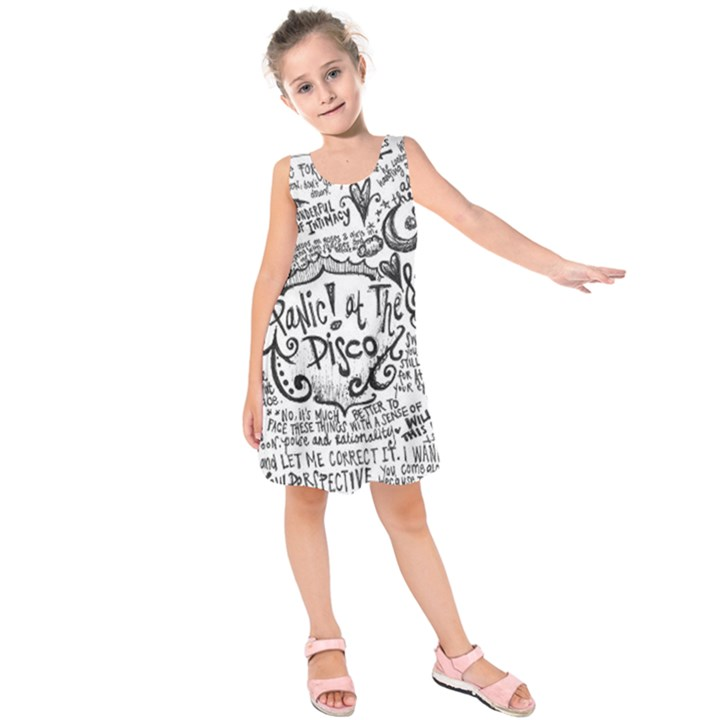 Panic! At The Disco Lyric Quotes Kids  Sleeveless Dress