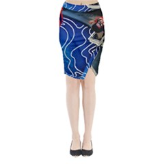 Panic! At The Disco Released Death Of A Bachelor Midi Wrap Pencil Skirt