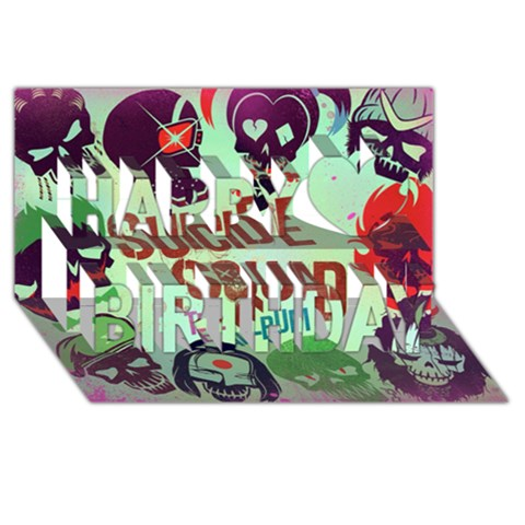 Panic! At The Disco Suicide Squad The Album Happy Birthday 3D Greeting Card (8x4)