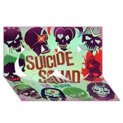 Panic! At The Disco Suicide Squad The Album Twin Hearts 3d Greeting Card (8x4)