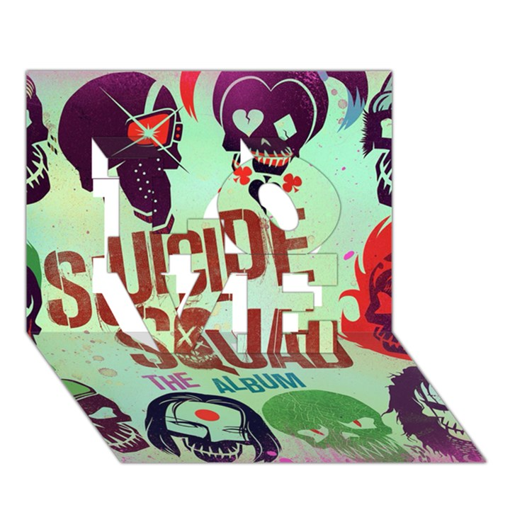 Panic! At The Disco Suicide Squad The Album LOVE 3D Greeting Card (7x5)