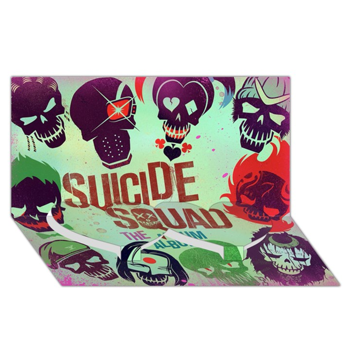 Panic! At The Disco Suicide Squad The Album Twin Heart Bottom 3D Greeting Card (8x4)