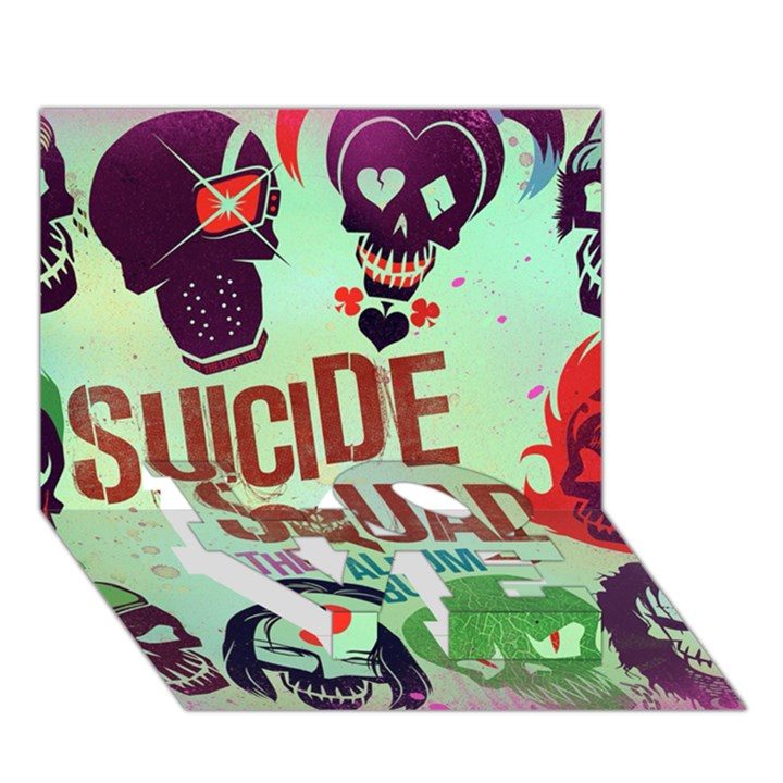 Panic! At The Disco Suicide Squad The Album LOVE Bottom 3D Greeting Card (7x5)