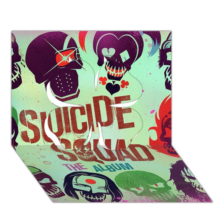 Panic! At The Disco Suicide Squad The Album Clover 3D Greeting Card (7x5)