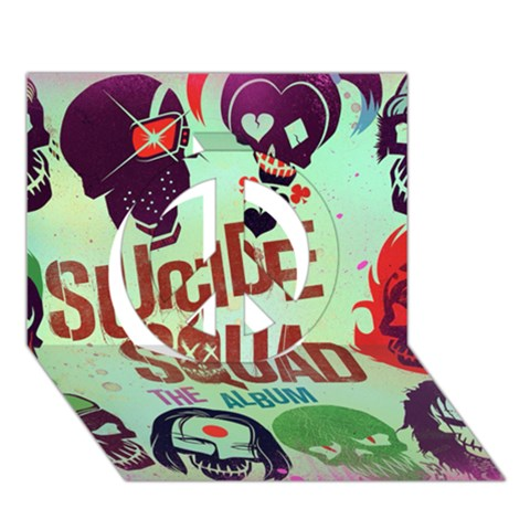 Panic! At The Disco Suicide Squad The Album Peace Sign 3D Greeting Card (7x5)
