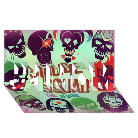 Panic! At The Disco Suicide Squad The Album #1 MOM 3D Greeting Cards (8x4)