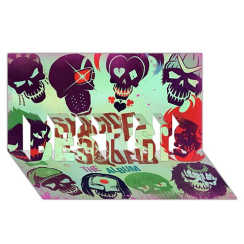 Panic! At The Disco Suicide Squad The Album BEST SIS 3D Greeting Card (8x4)