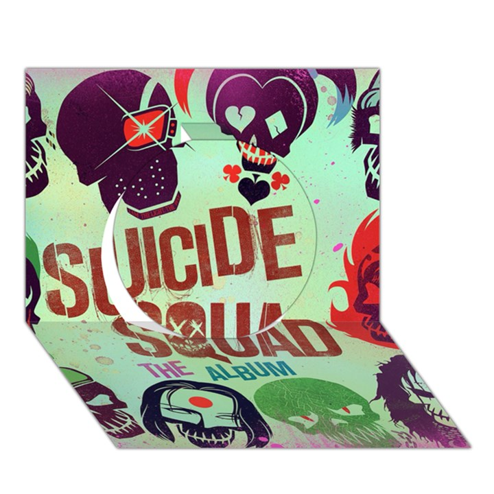 Panic! At The Disco Suicide Squad The Album Circle 3D Greeting Card (7x5)