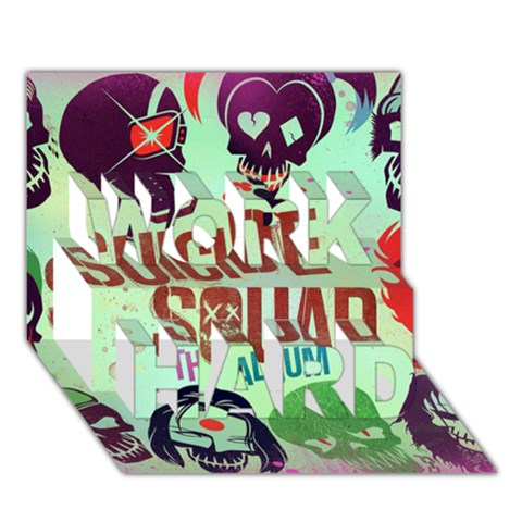 Panic! At The Disco Suicide Squad The Album WORK HARD 3D Greeting Card (7x5)
