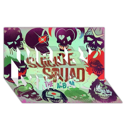 Panic! At The Disco Suicide Squad The Album Merry Xmas 3D Greeting Card (8x4)