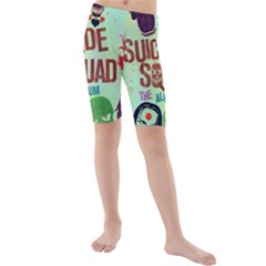 Panic! At The Disco Suicide Squad The Album Kids  Mid Length Swim Shorts