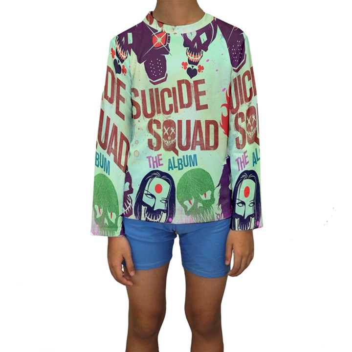Panic! At The Disco Suicide Squad The Album Kids  Long Sleeve Swimwear