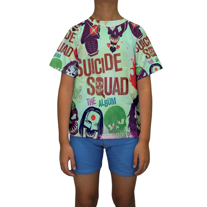 Panic! At The Disco Suicide Squad The Album Kids  Short Sleeve Swimwear