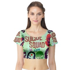 Panic! At The Disco Suicide Squad The Album Short Sleeve Crop Top (tight Fit)