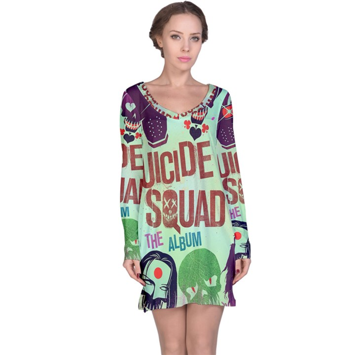 Panic! At The Disco Suicide Squad The Album Long Sleeve Nightdress