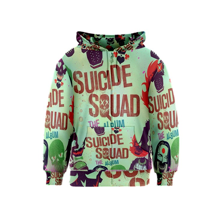 Panic! At The Disco Suicide Squad The Album Kids  Zipper Hoodie