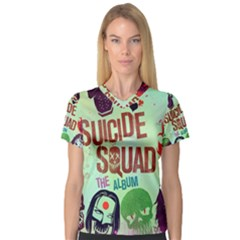 Panic! At The Disco Suicide Squad The Album Women s V Neck Sport Mesh Tee