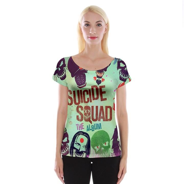 Panic! At The Disco Suicide Squad The Album Women s Cap Sleeve Top
