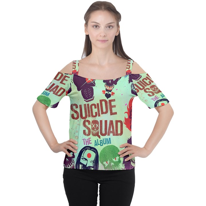 Panic! At The Disco Suicide Squad The Album Women s Cutout Shoulder Tee