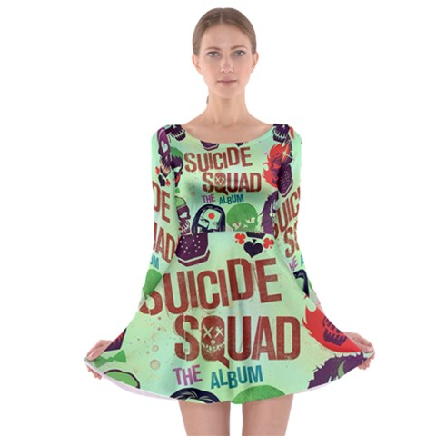 Panic! At The Disco Suicide Squad The Album Long Sleeve Skater Dress