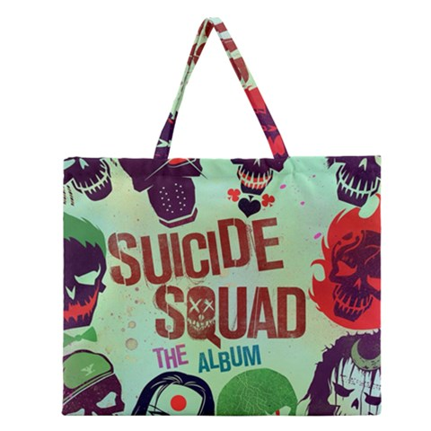 Panic! At The Disco Suicide Squad The Album Zipper Large Tote Bag