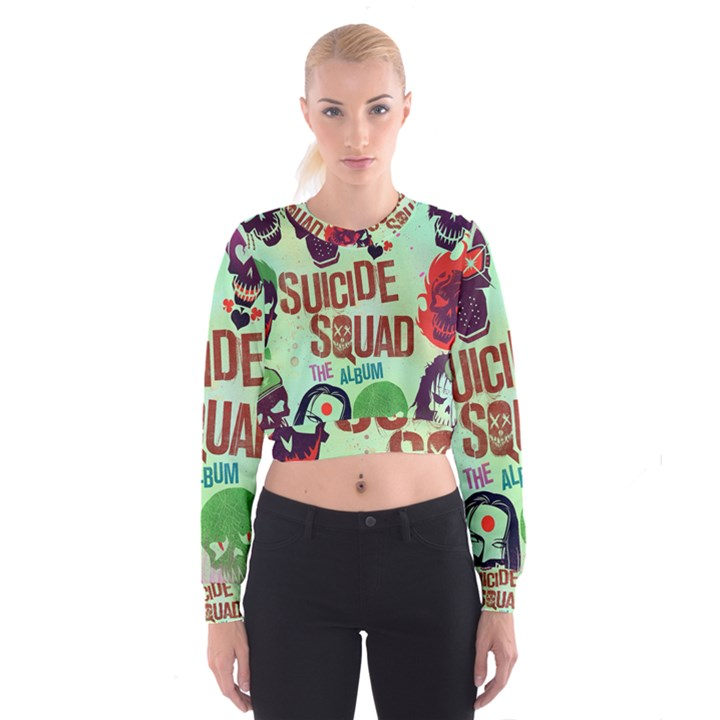 Panic! At The Disco Suicide Squad The Album Women s Cropped Sweatshirt