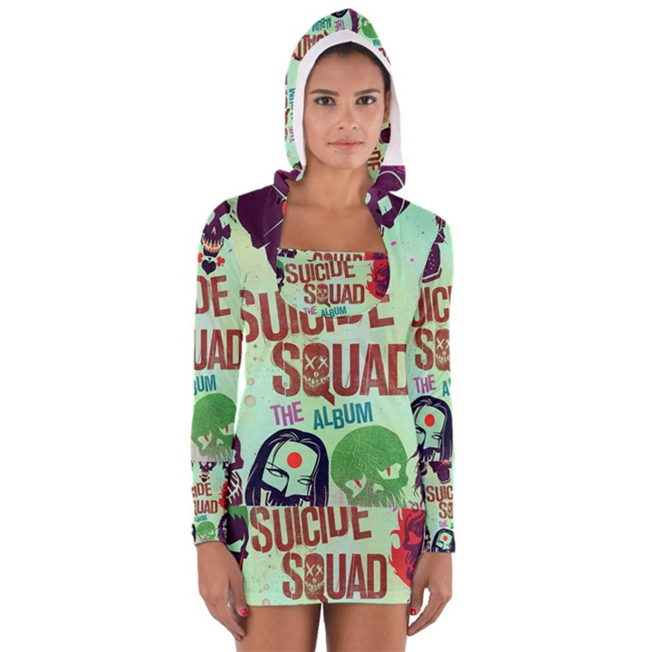 Panic! At The Disco Suicide Squad The Album Women s Long Sleeve Hooded T-shirt
