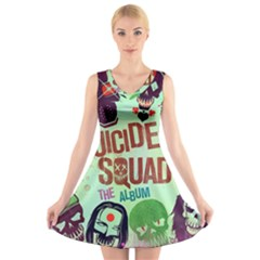 Panic! At The Disco Suicide Squad The Album V-Neck Sleeveless Skater Dress