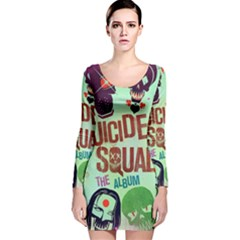 Panic! At The Disco Suicide Squad The Album Long Sleeve Velvet Bodycon Dress