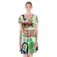 Panic! At The Disco Suicide Squad The Album Short Sleeve V-neck Flare Dress