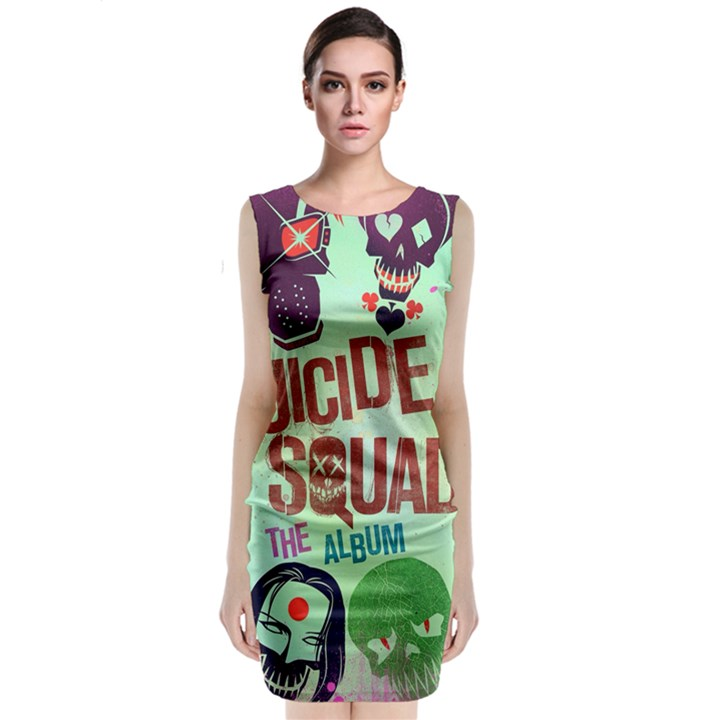 Panic! At The Disco Suicide Squad The Album Classic Sleeveless Midi Dress