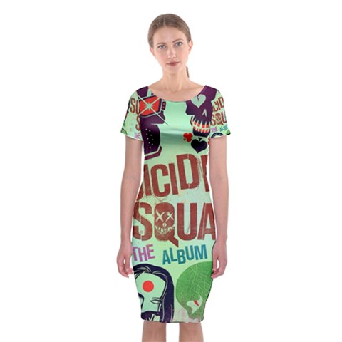 Panic! At The Disco Suicide Squad The Album Classic Short Sleeve Midi Dress