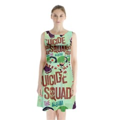Panic! At The Disco Suicide Squad The Album Sleeveless Chiffon Waist Tie Dress