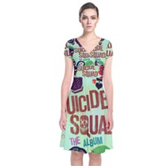Panic! At The Disco Suicide Squad The Album Short Sleeve Front Wrap Dress