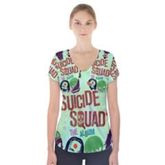 Panic! At The Disco Suicide Squad The Album Short Sleeve Front Detail Top