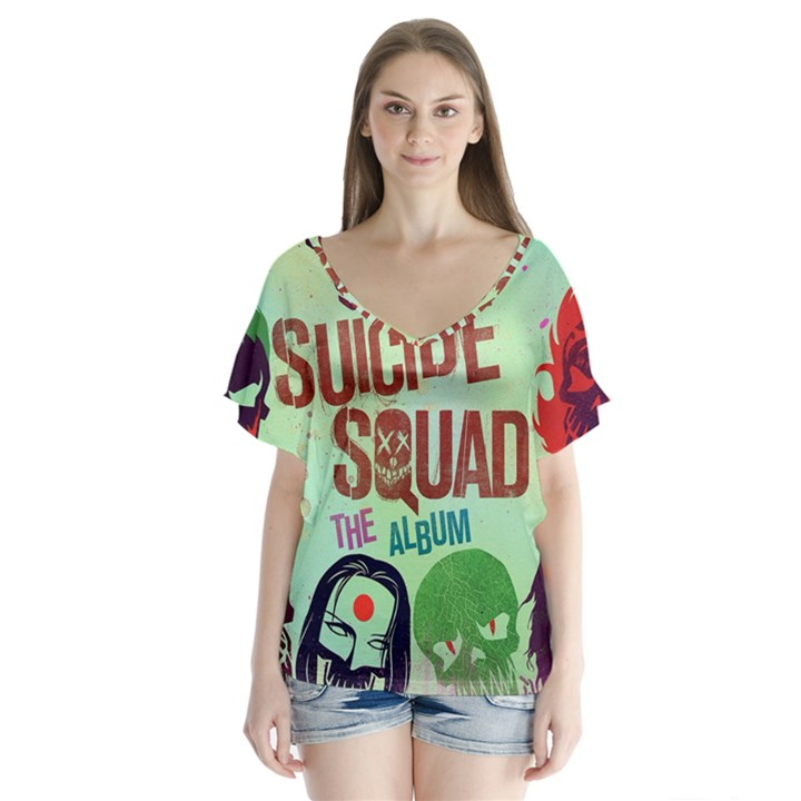 Panic! At The Disco Suicide Squad The Album Flutter Sleeve Top