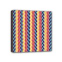 Colorful Chevron Retro Pattern Mini Canvas 4  x 4  View1